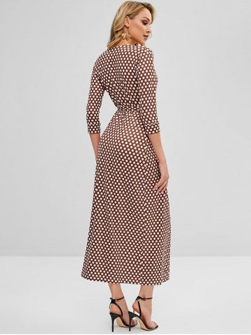 Wrap Maxi Polka Dot Dress