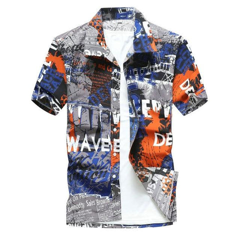 Fashion Style men Short Sleeve Hawaiian Shirt