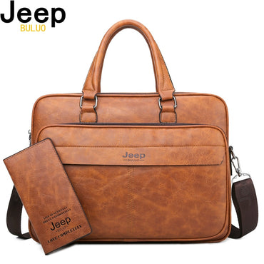 Briefcase High Quality Business office Work Leather handbag