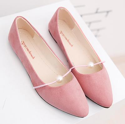 pearl shallow-mouthed chic single flats shoes