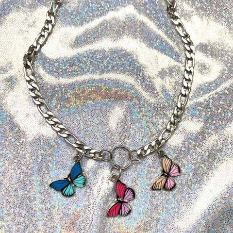 Cute Kawaii Butterfly Choker Necklace