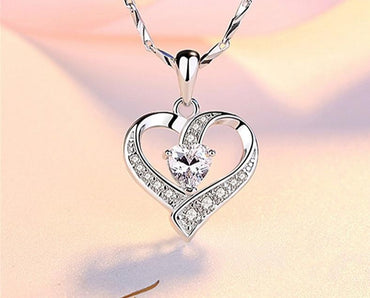 Chain Zircon Heart Pendants Necklaces