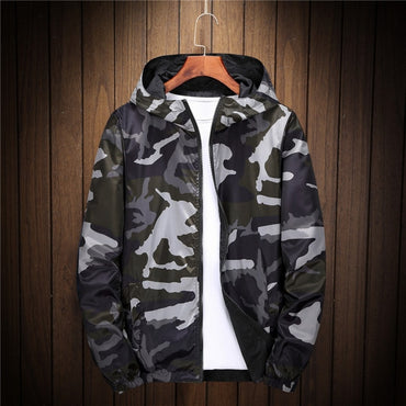 hoodies zipper Camouflage Both Side Wear Pilot  jackets coat