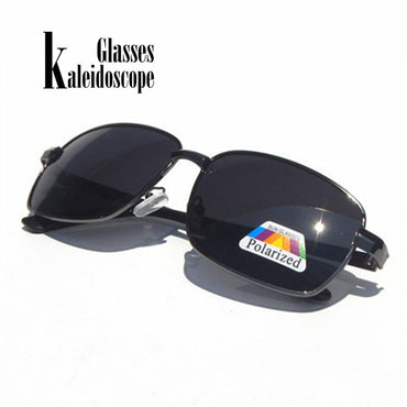 Retro Rectangle Polarizer Lens SunGlasses