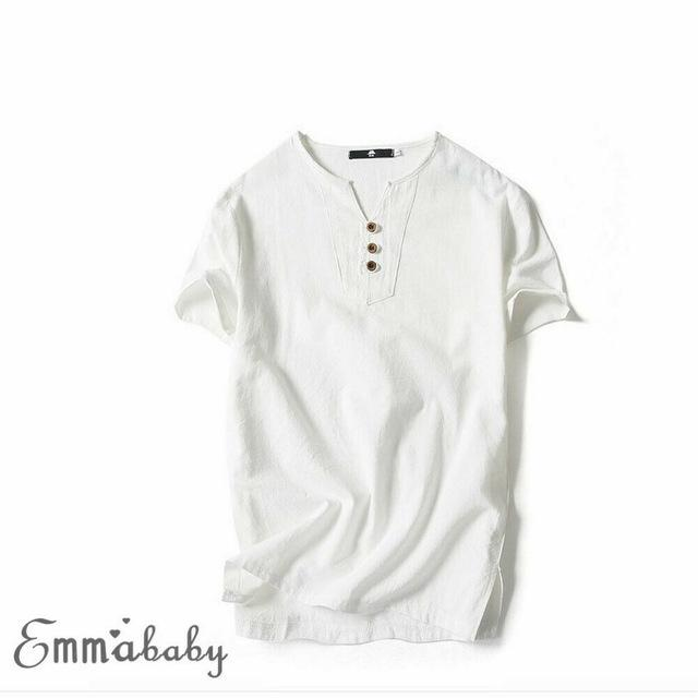 summer linen Shirt men's short sleeved Fashion Shirts breathes Cool Fashion Shirts
