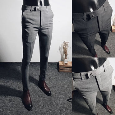 casual business slim straight suit pants