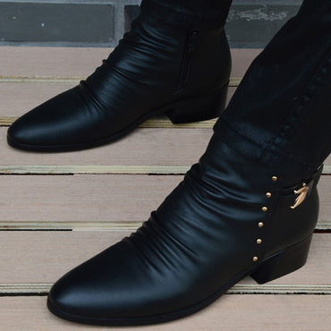 Genuine Leather British Ankle Boots
