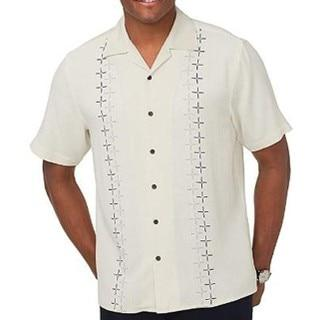 men Clothing 100 Silk White Shirt Men Short Sleeve Embroidery Plus Size Big and Tall Casual Fashion Shirts