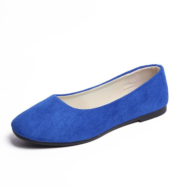 Slip-On Round Toe Casual Flat Shoes
