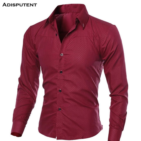 Casual Long Sleeve Formal  Slim Fit Basic Business Dress Shirts