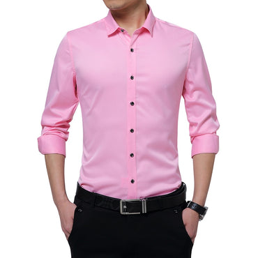 High Quality Men Long Sleeve Shirt Slim Fit Dress Shirts