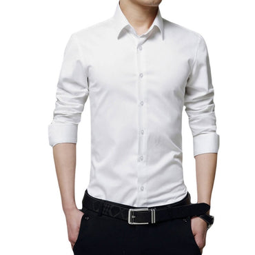 Dress Shirt Long Sleeve Slim  Shirts