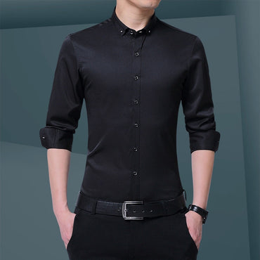 Long Sleeve Slim Fit Formal Dress Shirts