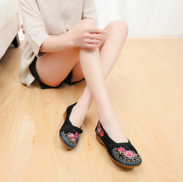 Canvas Old Beijing Casual Slip-on Ballet Flats Shoe
