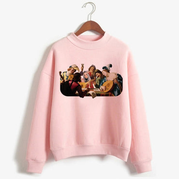 Billie Eilish Harajuku Funny Cartoon Turtleneck Hoodies