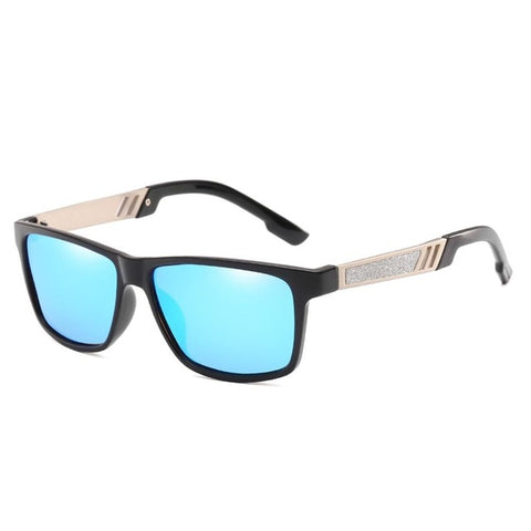 Driving Glasses Mirrored Reflective Lens Retro Polarizing Sunglasses