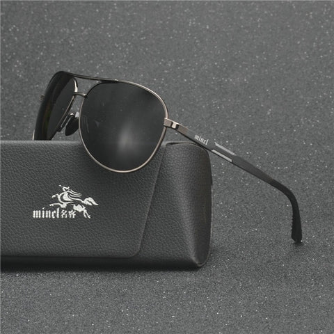 Aluminum pilot Sunglasses Polarized UV400 Mirror Male Sun Glasses