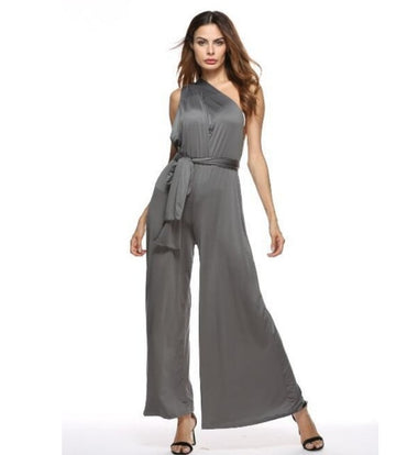 Sexy Infinity Multi-Way Convertible Wrap Halter Cocktail Bandage Long Wide Leg Rompers