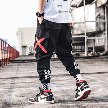 Street Style Cotton Hip Hop Jogger Camouflage Pants