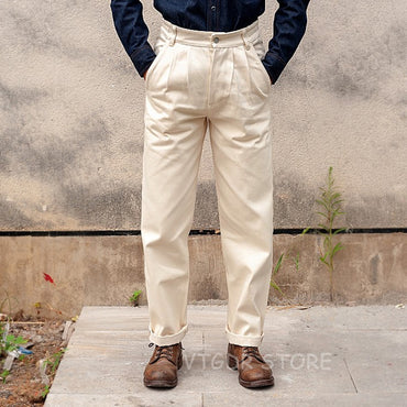Vintage White Officer Pants