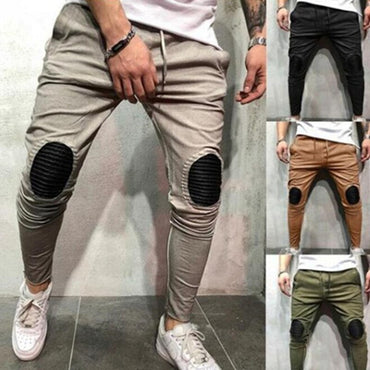 Joggers  Drawstring Elastic Waist Slim Fit Casual Pants