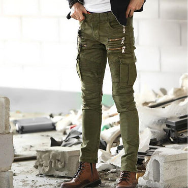 Long trouser Punk Slim  trousers  Pencil  Pants