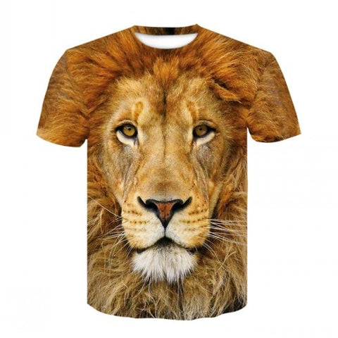 latest tiger 3D printed animal cool funny T-shirt