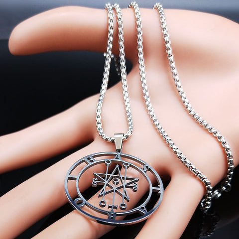 Astaroth Sigil Goetia Stainless Steel Necklace