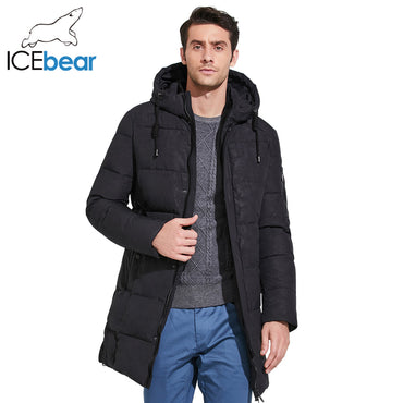 Parkas Mid -Long Smooth Metal Zipper Stand Collar Simple Handsome  Jacket Coats
