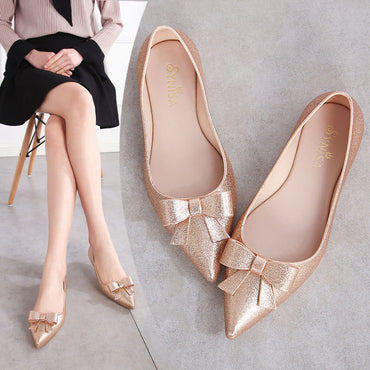 Beach Sand Soft Pointy Toe  flat Shoes