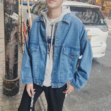 Korean Slim Denim Jacket Coats
