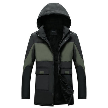 Warm Fleece Patchwork Thick Male Jackets coats