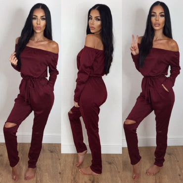 Punk Style Hollow Out Irregular Romper