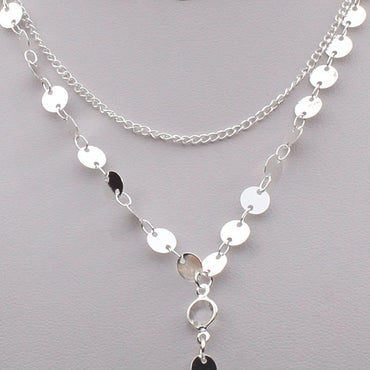 Trendy Handmade Sequins Chain Necklace