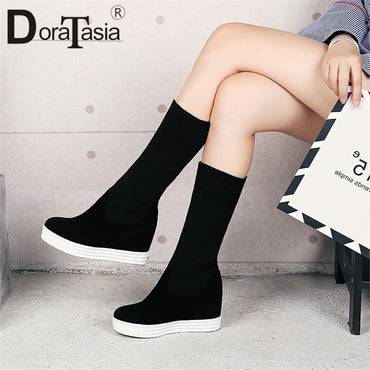 Height Increasing Ankle Boots