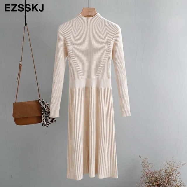 turtleneck slim long Sweater
