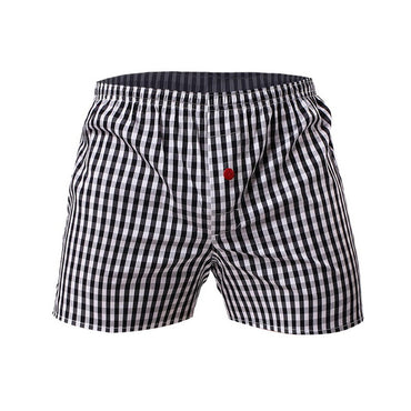 Classic Plaid Combed Loose Breathable Oversize Family  Shorts