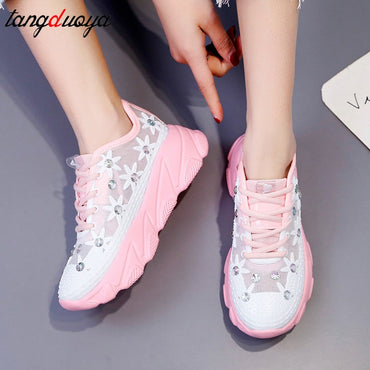 casual shoes breathable mesh trainers platform  Shoes & Sneakers