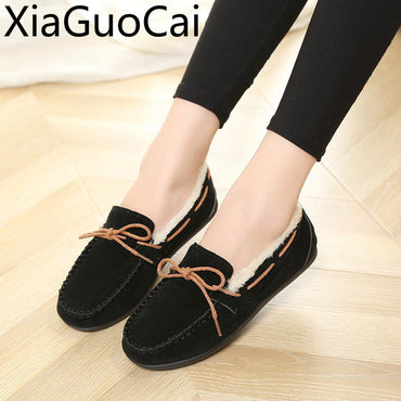 Loafers Warm Leisure Pregnant  Flat shoes