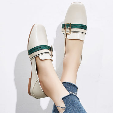 Sneakers Slip On Flat  Leather flat shoes