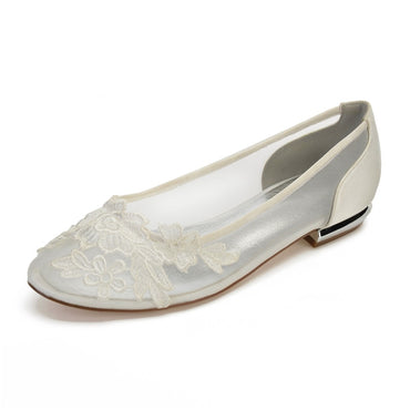 Comfort Flat Appliques Wedding flat shoes