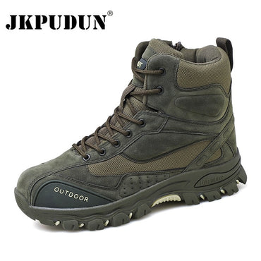 Genuine Leather US Army Hunting Trekking Camping Mountaineering Boots