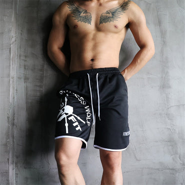Straight Crossfit Mens Bodybuilding Shorts