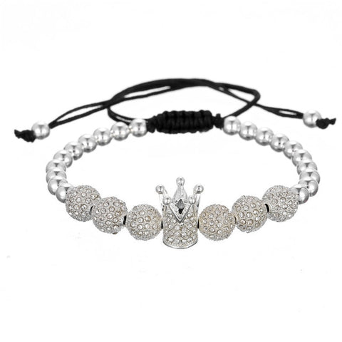 White 12 Drill The Ball An Crown Weave Dyi Manual Bracelet & bangle