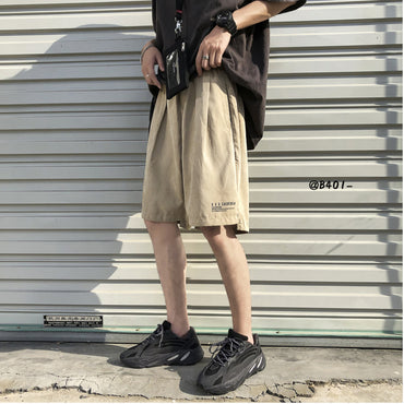 Solid Color Straight Casual Shorts
