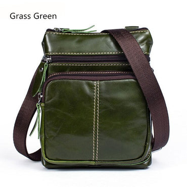 Genuine Leather Messenger handbag