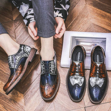 \Mixed Colors Fashion Dress Leather oxford Shoes