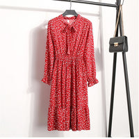 Print Floral Chiffon  Retro Hot Elegant Chic  Loose Dresses