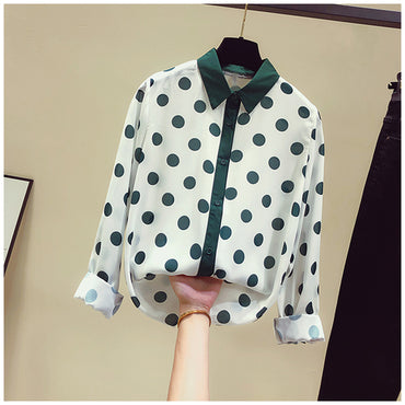Long Sleeve Bottoming Top All-match Feminine Blouses