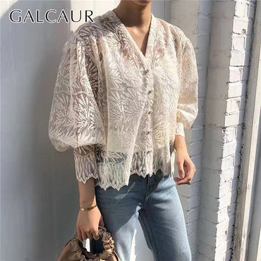 Elegant Embroidery Lace Blouse